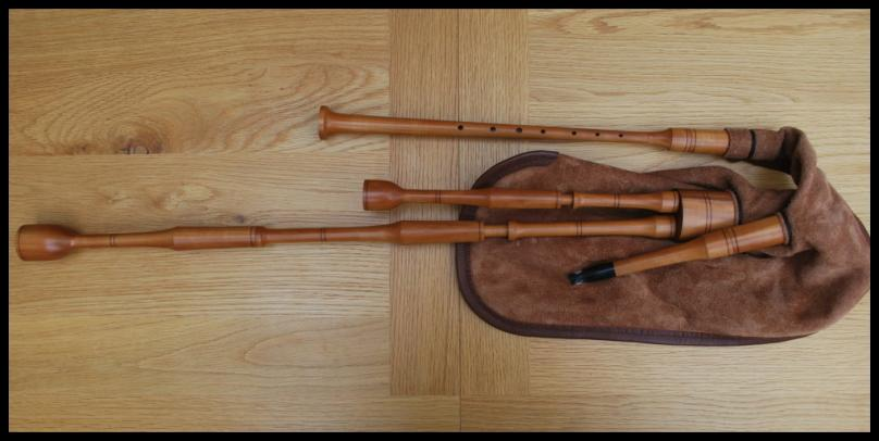 Mouth Blown Or Bellow Blown Harmonious Colors Scottish Smallpipes In Key Of D Bagpipes Wind & Woodwind